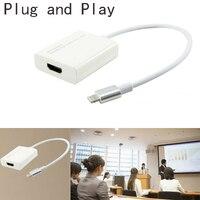 Plug and Play HDMI Câble Adaptateur Téléphone Audio Vidéo pour TV Projecteur pour iPhone 8 PLUS X 7 6 S 6 Plus 5 5S Pour iPad Pro Air Mini