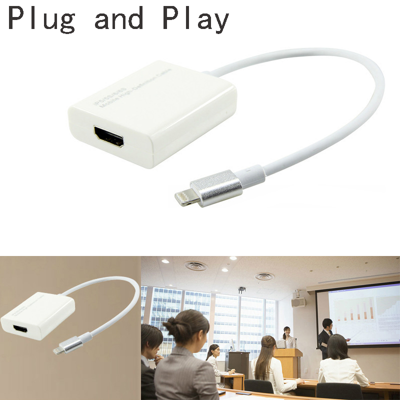 bilder für Plug and Play Kabel Adapter Cast Telefon Audio Video zu HDMI HD TV Projektor für iPhone 7 6 S 6 Plus 5 5 S SE Für iPad Pro Air Mini