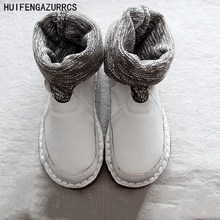 HUIFENGAZURRCS-New comfortable flat boots,pure handmade shoes,the retro art mori girl shoes wool mouth ankle boots round boots