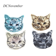 Vintage Cat Head Brooches Women Men Resin Acrylic Lovely head Gifts DCNovember