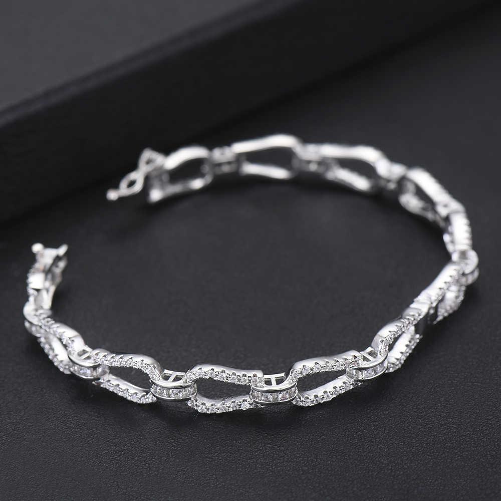 Ensembles de bijoux à la mode AAA cubique zircone anneau bracelet conception ouverte mode femmes mariée mariage fiançailles bijoux ensemble