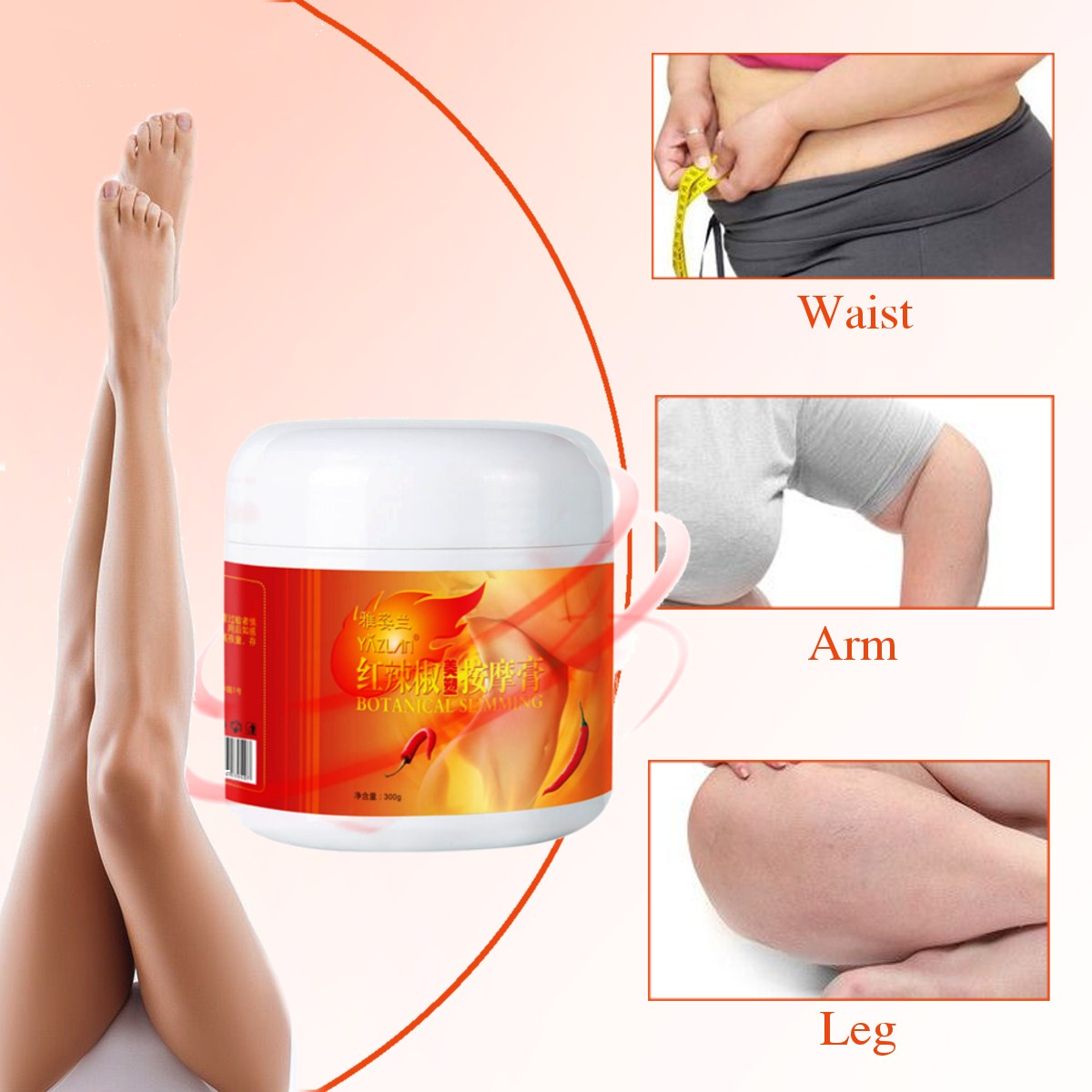 300g Weight Loss Products Hot Chilli Chili Slimming Creams Leg Body Waist Effective Anti Cellulite Fat Burning Gel