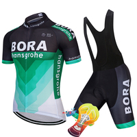 2018 TEAM BORA Cycling Jersey Gel Bike Shorts Set SOBYCLE Ropa Ciclismo Mens Summer Quick Dry