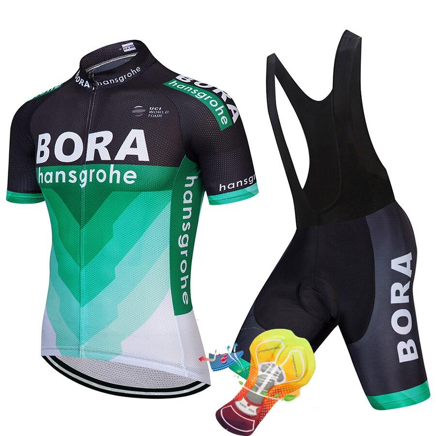 2018 TEAM BORA Radfahren jersey gel bike shorts set SOBYCLE Ropa Ciclismo herren sommer quick-dry PRO RADFAHREN tragen maillot Culotte