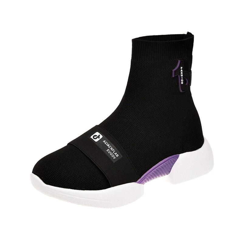 Kataloge Werden Auf Anfrage Verschickt LiebenswüRdig Frauen Keile Casual Schuhe Mode Dicken Sohlen Hip-hop-high-top Schuhe Trends Neue Elastische Socken Stiefel Damenstiefel Wadenhohe Stiefel