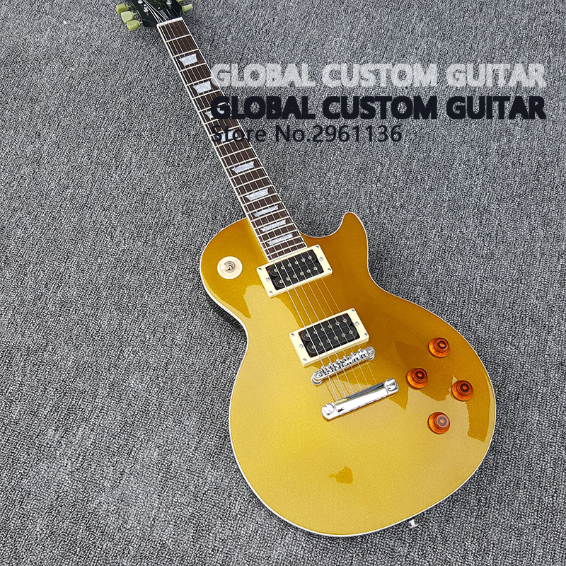 все цены на 2017 New Wholesale Custom shop Gold silver and pink electric guitar Standard LP 59 electric guitar HOT! Free shipping онлайн