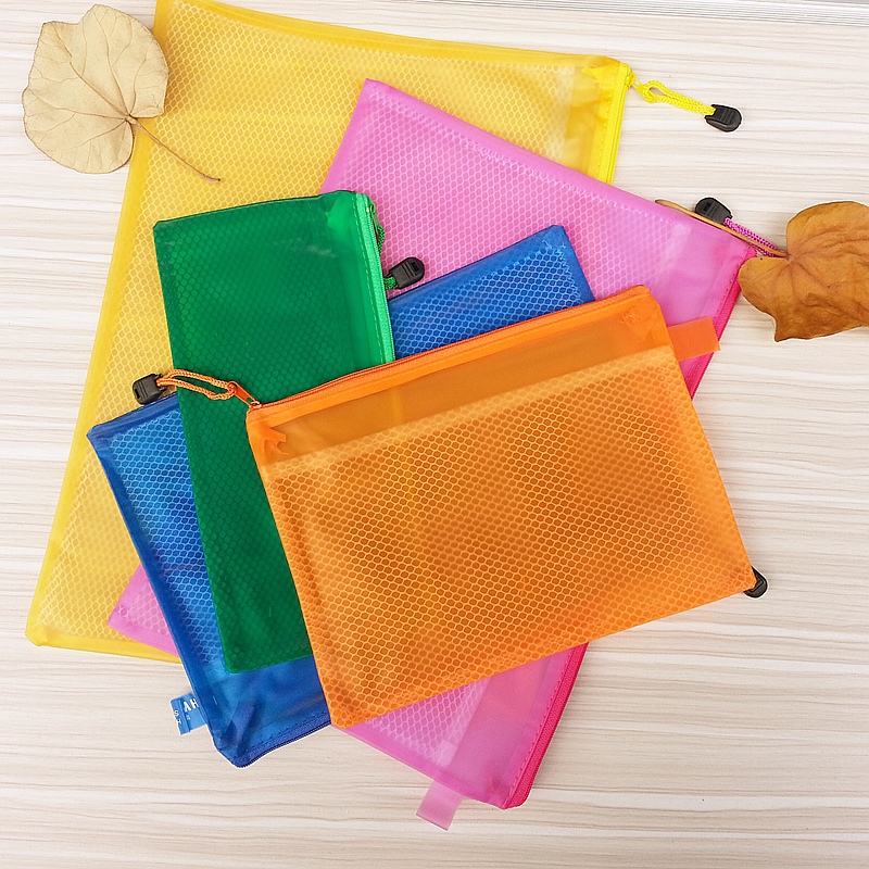 Waterproof Zipper Bag With Internal Split Case Office Supplies  Document Bags  School Supplies Pens And Books Storage Bag