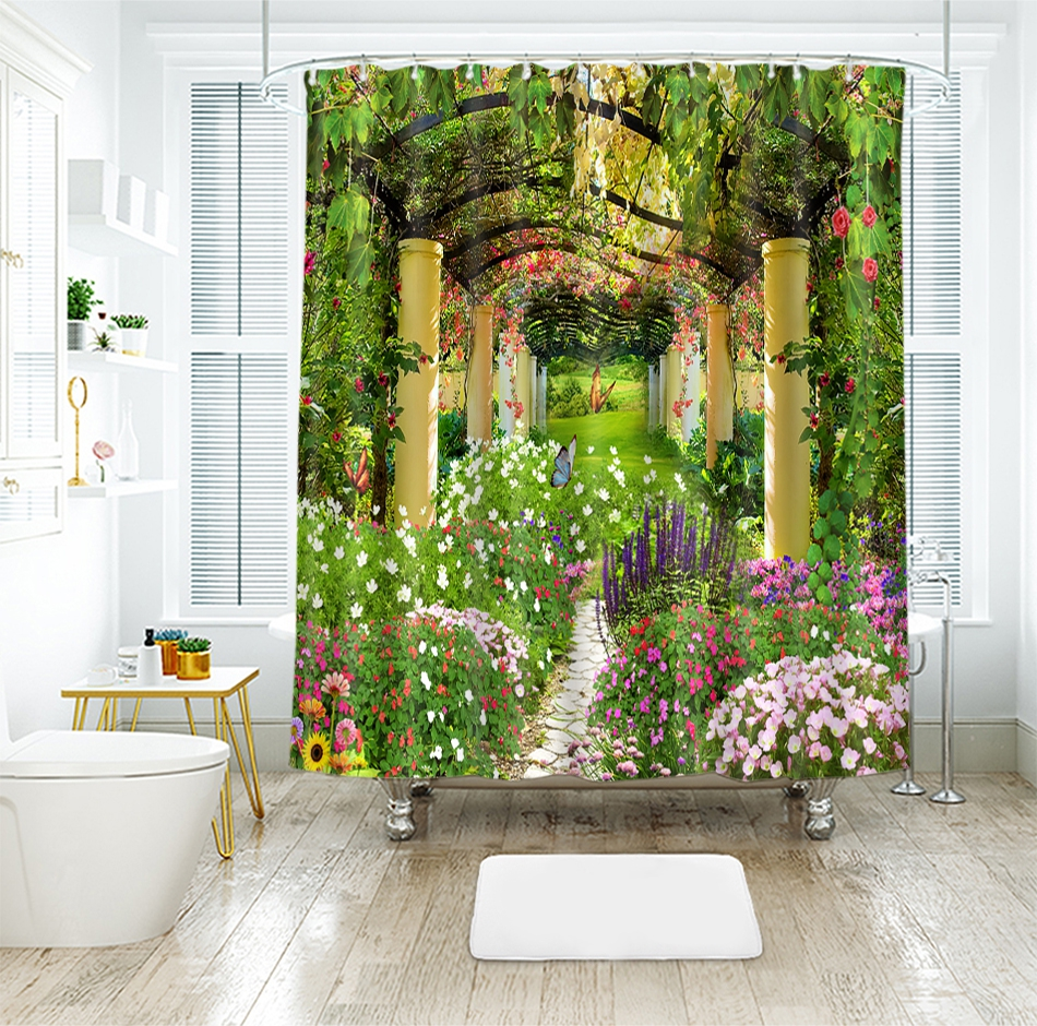 check MRP of bathroom curtains