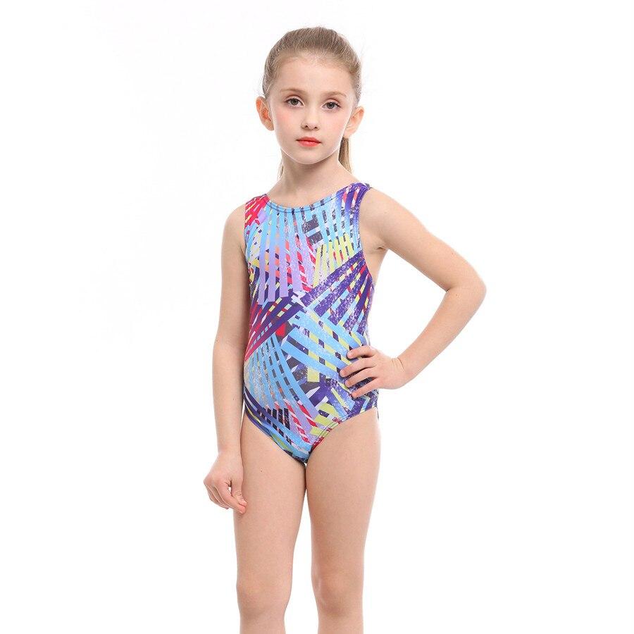 Girls Swimwear Summer Kids One Piece Swimsuit for Girl 3-12 Years Children Bathing Suit 2019 Nylon Spandex Patchwork