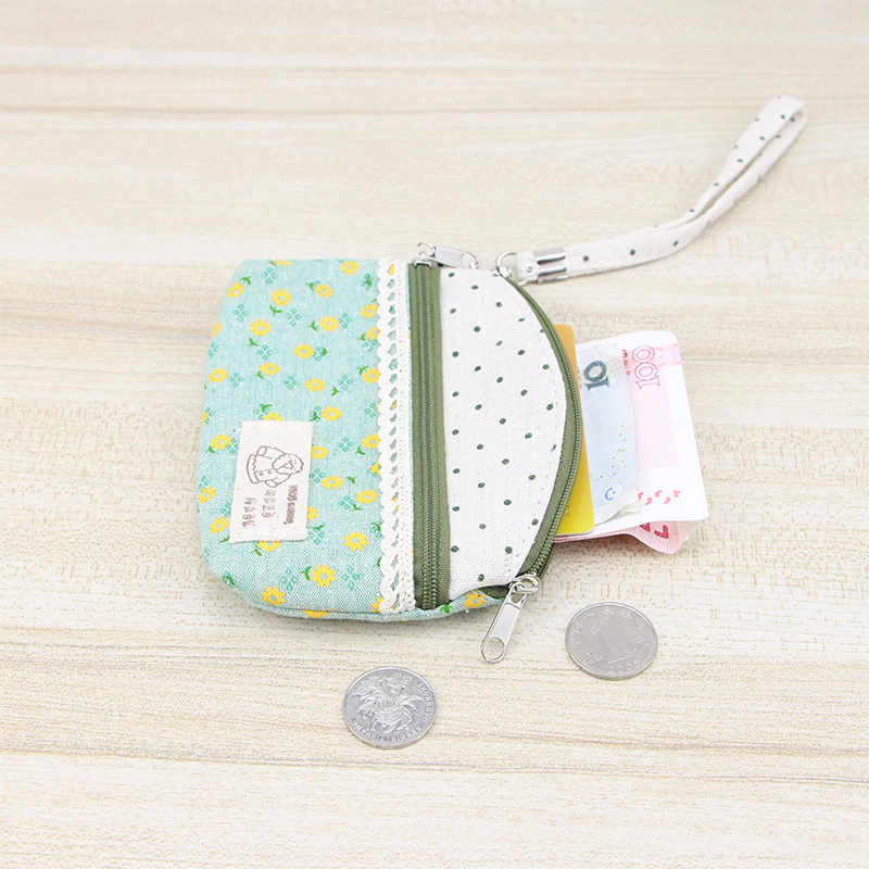 Katuner New Fresh Floral Canvas Coin Purse Women Clutch Key Card Bag Kids Coin Pouch Girls Wallets Porte Monnaie KB006