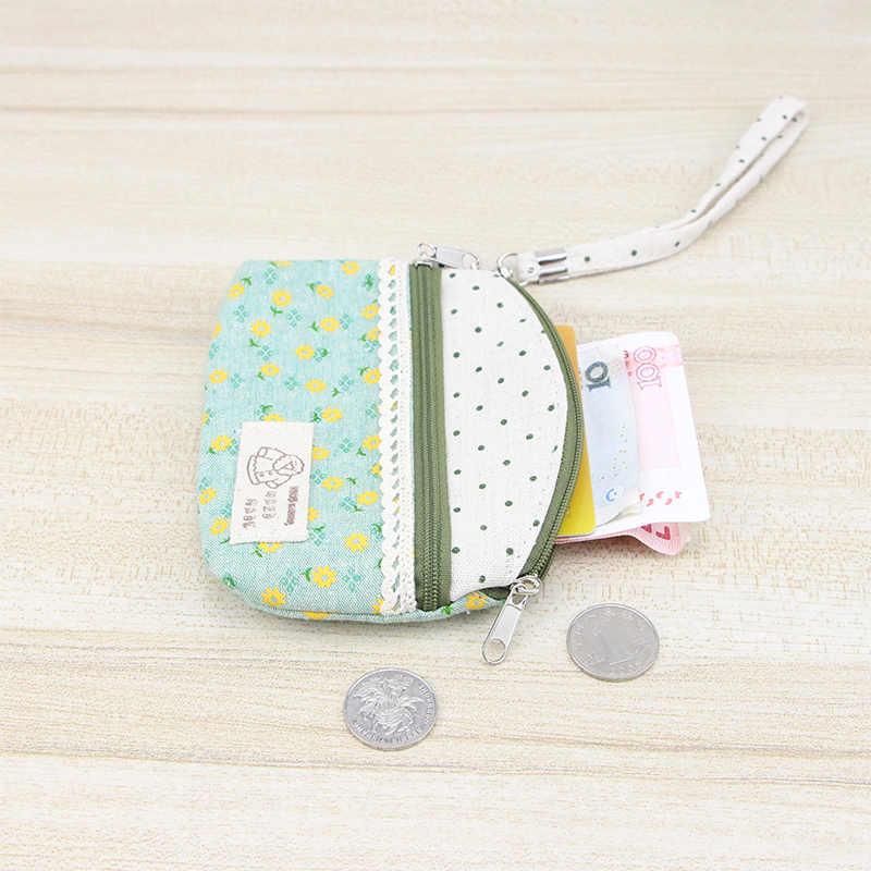 Katuner Nieuwe Verse Bloemen Canvas Portemonnee Vrouwen Clutch Key Card Bag Kids Coin Pouch Meisjes Portefeuilles Porte Monnaie KB006