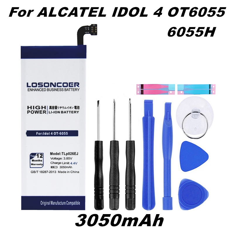 LOSONCOER Battery For Alcatel 6055 Tlp026ej Idol Gift-Tools 3050mah Quick-Arrive