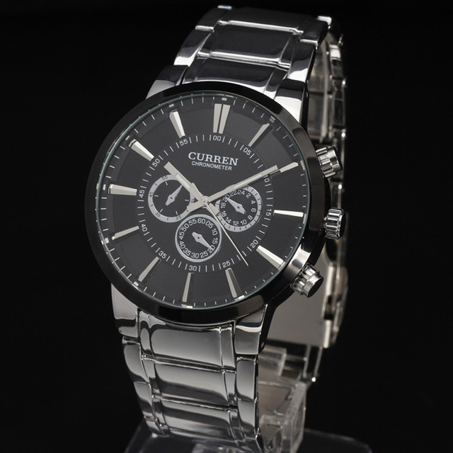 New Casual Curren Watches Men Luxury Top Brand Military Watch Men Male Full Steel Wristwatches Fashion Sport Relogio Masculino