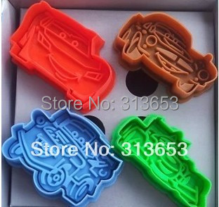 US $13 5 10% OFF|New arrival 8pcs/set Cars cookie stamps PLEX Biscuit  sugarcraft Arts set Fondant Cake tools mold cookie cutters free shipping-in