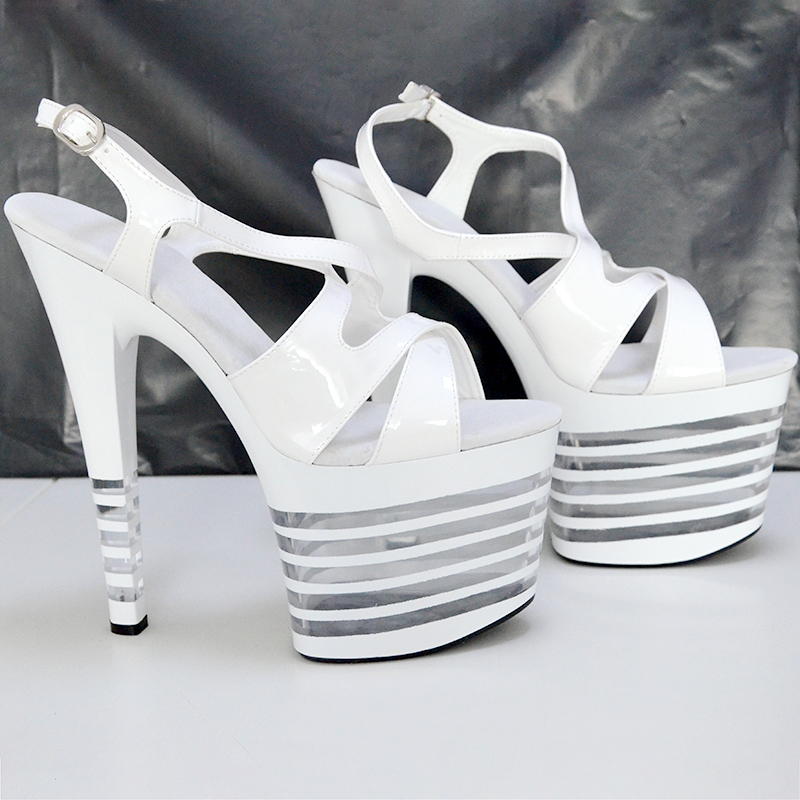 Sexy Platfrom Sandals Women Summer Shoes High Heels 20cm Stripper Fenty Beauty Shoes Fashion Black Red White Pumps Party Shoes