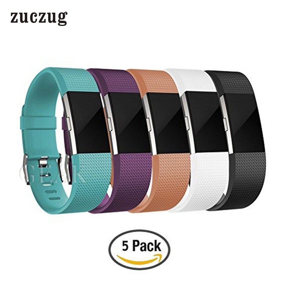 Zuczug Replacement Accessory TPE Band för Fitbit Charge 2 Classic - Smart electronics