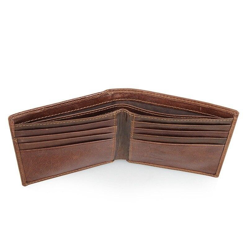 Honno GWXSJYCY 人気 ブロッキングクレジットカードホルダー財布ヴィンテージデザイナー本革男性の財布