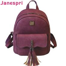 hot deal buy janespri 2018 new tassel women backpacks pu leather lady backpacks high quality fashion girls backpack cute school bag mochilas