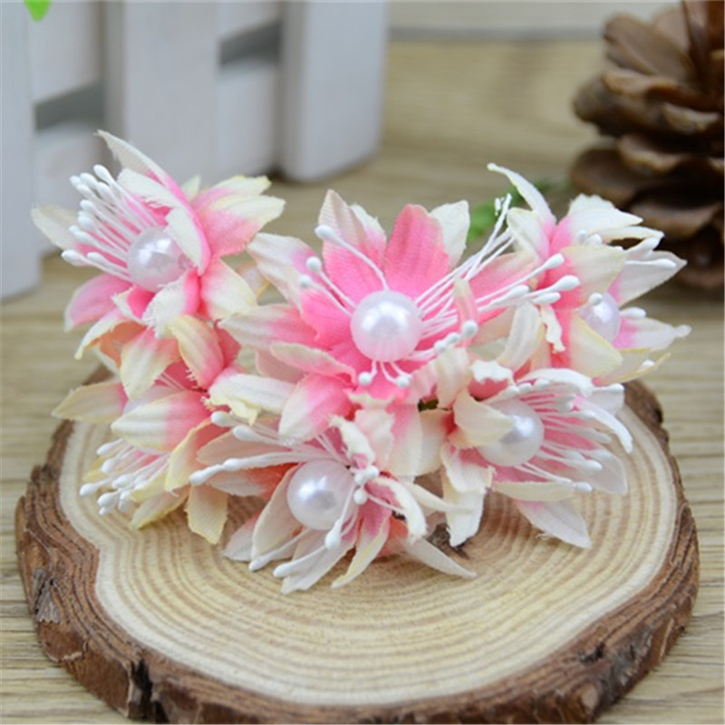 6pcs/lot 4cm Silk Mini Rose Artificial Flower Bouquet For Wedding ...