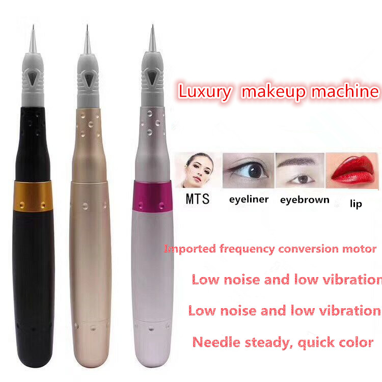 Ultra-Quiet Pro Tattoo Guns Permanent Makeup Rotary Machine Kits Electric Alloy Pen For Eyebrow Eyeliner Lip Cosmetics Free Ship