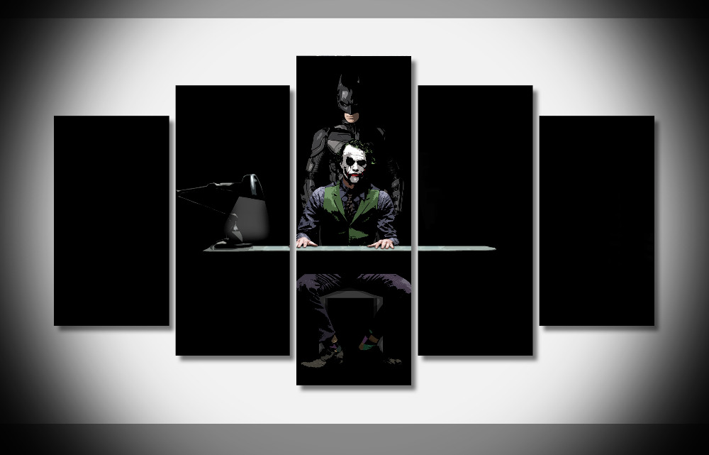 7304 batman movie classic hero super power clown Poster wood Framed Gallery wrap art print home wall decor Gift wall picture