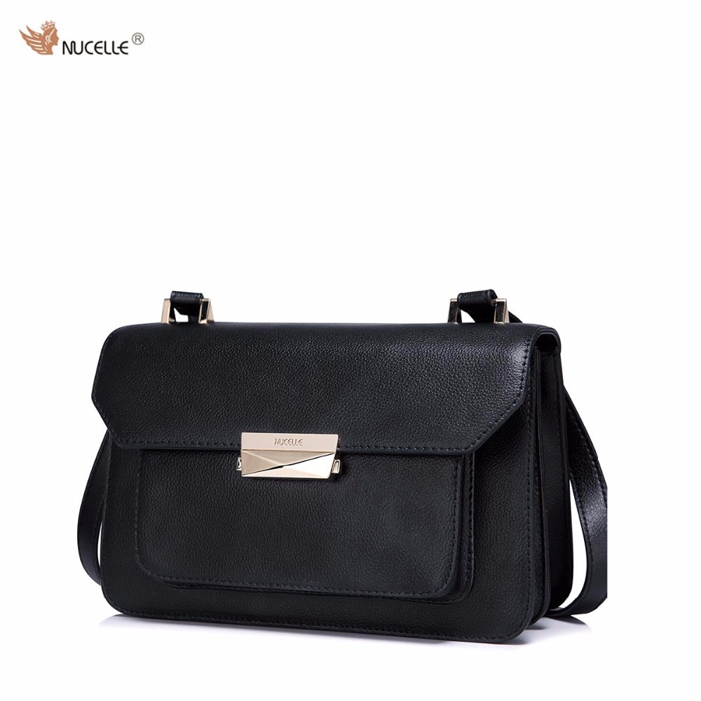 ФОТО New NUCELLE Brand Design Fashion Casual Lock Cow Leather Women Lady Shoulder Cross Body Flap Bag