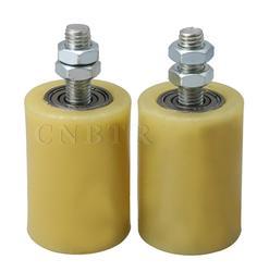 CNBTR 2 шт. 50x70 мм желтый серебристый ПП сталь плоский роликовый подшипник направляющее колесо 6201 M12 винт для электрической двери раздвижные во...