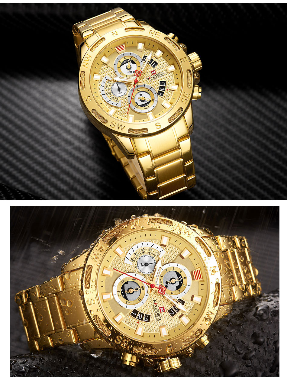Branded Golden Watch for Men - MiraShop