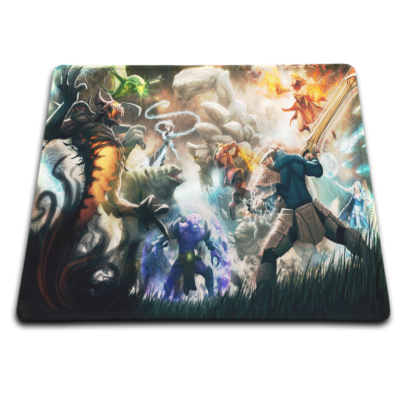 omputer Mouse Pad Dota 2 Crystal Maidens Express Background Pattern Non-Slip Durable Rubber Gaming Mouse Mat