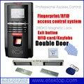 Biométrico de impressões digitais Porta Sistema de Controle de Acesso TCP Tempo Attandance Kit de Impressão Digital Da Porta de Entrada + 280 KG 600Lbs Fechadura Magnética