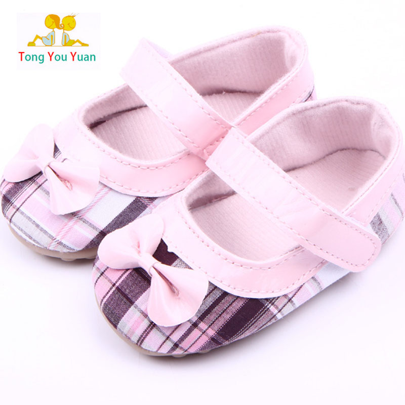 Baby Plastic Feet Girl Shoes Learn The First Walk Shoes Plastic Bottom Bow Tie Lattice Toddler Shoes Xz91 Rich In Poetic And Pictorial Splendor First Walkers
