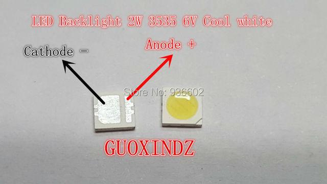 SEOUL  High Power LED    LED Backlight  2W 3535  6V  Cool white  135LM   TV Application SBWVL2S0E