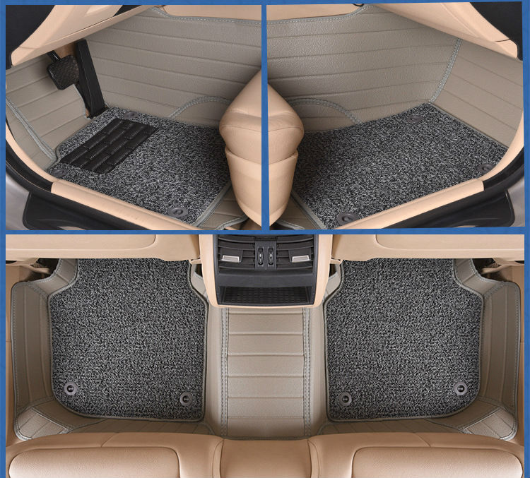 Myfmat car floor mats foot rugs double-layer for MITSUBISHI lancer ex V3/5/6 Pajero Sport Outlander V73 V77 Grandis EVO IX dx 7