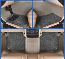 Coche tapetes alfombras pie conjunto de doble capa pad para mitsubishi lancer ex v3/5/6 pajero sport outlander v73 v77 grandis evo ix dx 7
