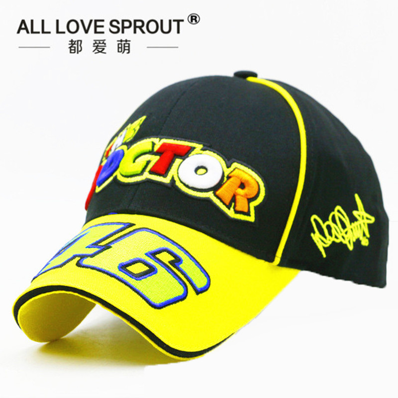 2017-2018 NEW MOTO GP 46 Motorcycle 3D Embroidered Racing Cap Men Women Snapback Caps Rossi VR46 Baseball Cap 2016 new new embroidered hold onto your friends casquette polos baseball cap strapback black white pink for men women cap