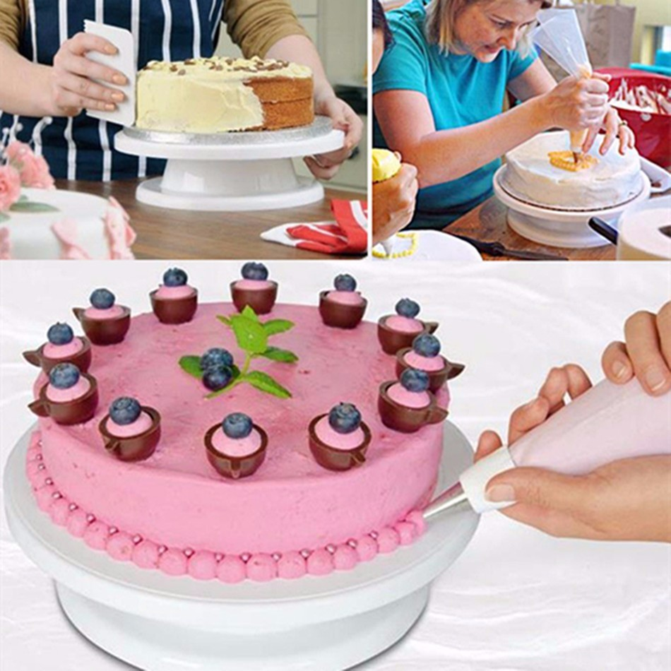 Facemile Cake Swivel Plate Revolving Cake Sugarcraft Turntable Decoration Stand Platform turntable Baking Tools 03106