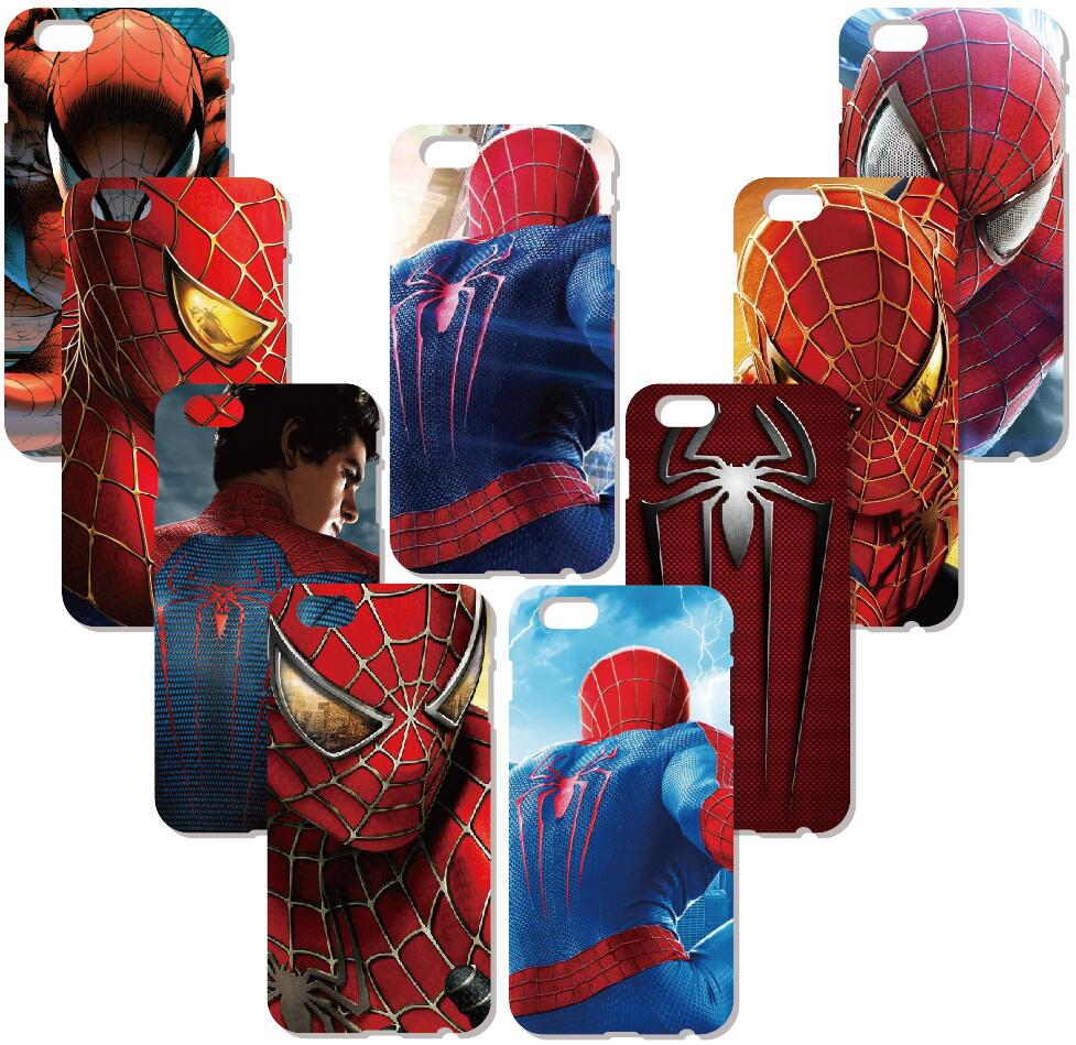 Superhero Spiderman Logo Case For Samsung Galaxy S9 Plus E5 E7 i9082 S5 S6 S7 Edge Note 3 4 5 Phone Cover Coque Capa Fundas
