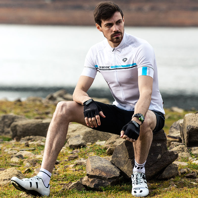 Santic Cycling Set Mens Pro Team Cycling Jersey Set Summer Breathable Quick-dry Bike Bicycle Clothing Set Maillot Ciclismo S-3XL