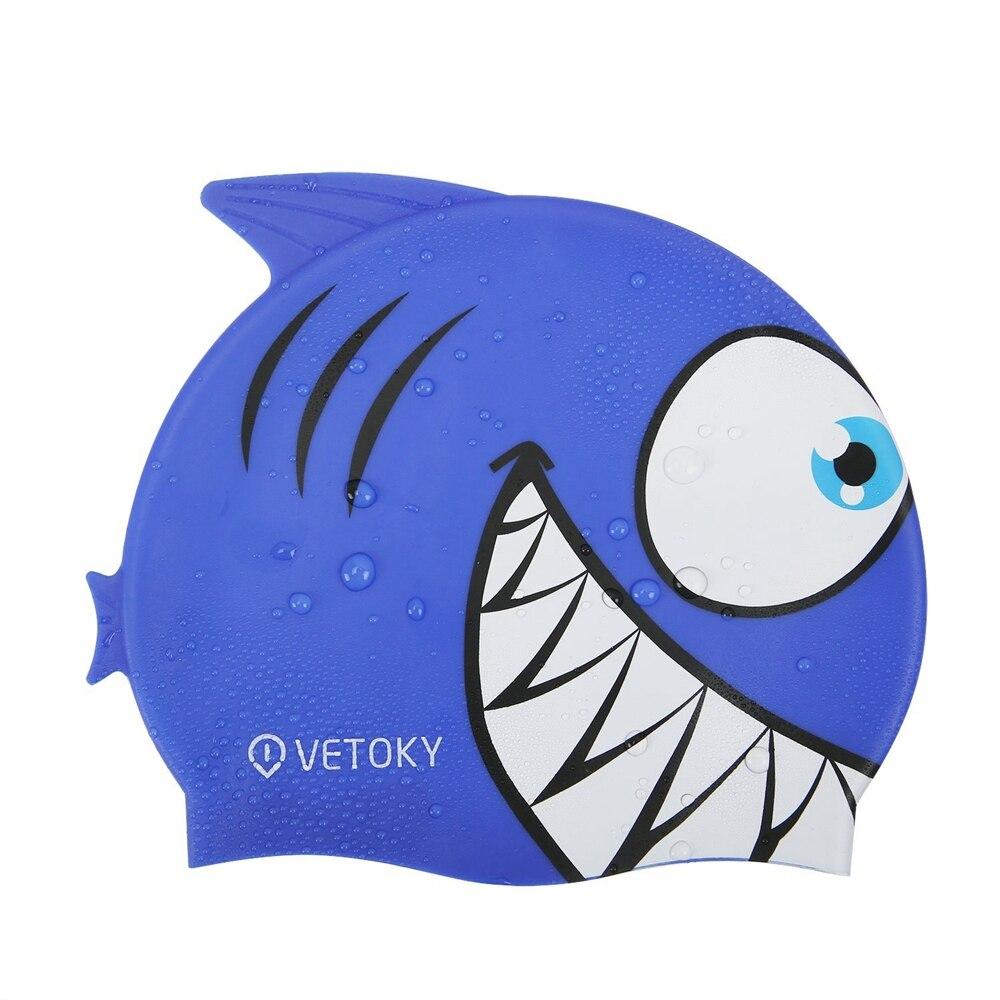 blue shark swimming cap