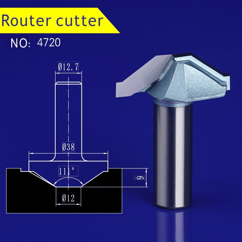 1pcs 12.7*38mm Chest/Door wood flat edge trimmer milling cutter engraving machine tool slotting Lace cutter 4720 1pcs 6 16mm chest door engraving machine milling knife wood cutter router bit knives 3d lace woodworking milling cutter no 4046