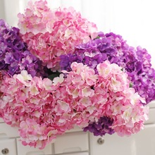 2018 Seven Head Hydrangea Artificial Flowers For Home DIY Wreath Decorative Bridal Flower Fake Flowerartificial Flowers for Home