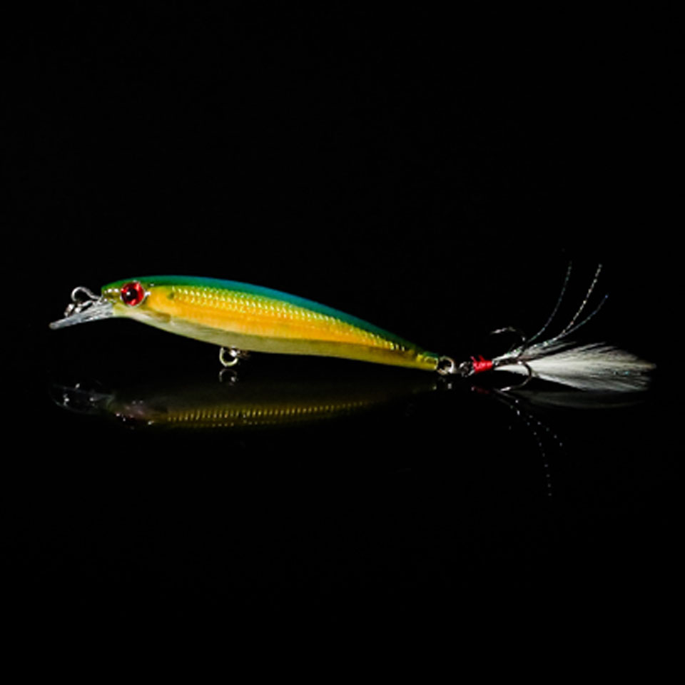 WALK FISH 1PCS 9cm/8g Minnow Fishing Lures Laser Fishing Wobblers Crankbait With VMC Hooks Sea Bass /Pike/Trout Artificial Bait 1pcs 16 5cm 29g big minnow fishing lures deep sea bass lure artificial wobbler fish swim bait diving 3d eyes