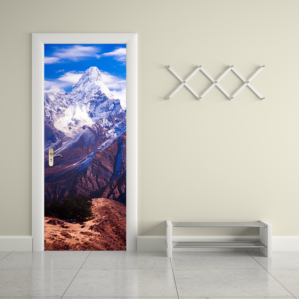 Self Adhesive 3D Door Sticker Nepal Ama Dablam Waterproof Refurbished PVC  Sticker Decoration Home Decor 200x38.5cm 2pcs/set In Wall Stickers From Home  ...