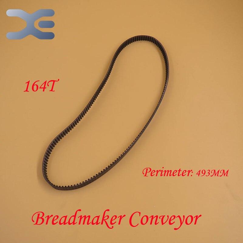 164T Perimeter 492mm Belt Breadmaker Conveyor Belts Bread Maker Machine Parts Bakery Strap Kitchen Appliance Accessories