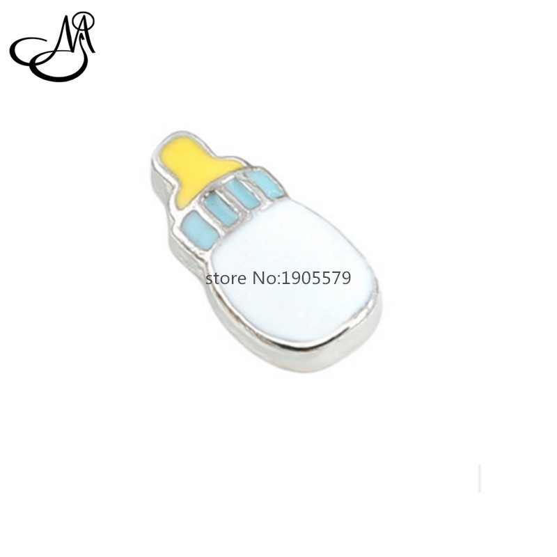 2016 New fashion baby bottle floating charm for glass memory lockets MFC2101