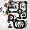 Kids Boy Baby Toys Road Printed Carpet Pugs Large Cotton Rawing Mat Kids Toy Train Track