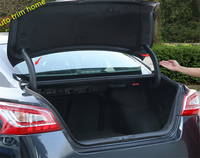 Lapetus Rear Trunk Hinged Protective Cover Trim 2 pcs / set For Nissan Teana / Altima 2013 2014 2015 Plastic