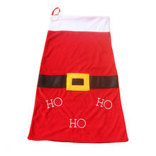 Hot Xmas Stocking Santa Christmas Gift Storage Big Bag worki Organizer pokrowiec czerwony(China)