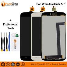 % 100% Test Edilmiş LCD Wiko Darkside Için Tam Lcd ekran dokunmatik ekranlı sayısallaştırıcı grup Için Yedek Wiko Darkside LCD Ekran