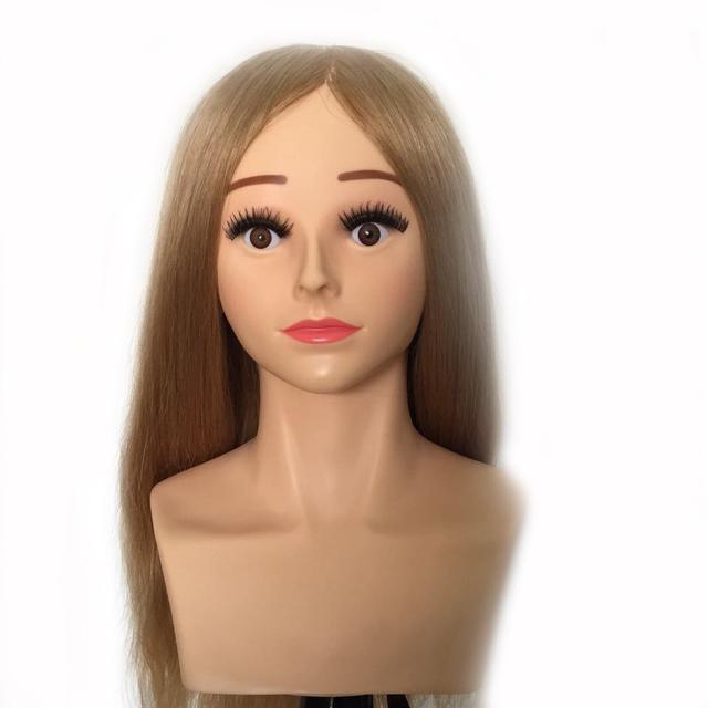 """22 """" 220 g / 240 g 100% cabelo humano cabeleireiro formação prática cabeça manequim manequim cabeça de nível de competição # 27"""